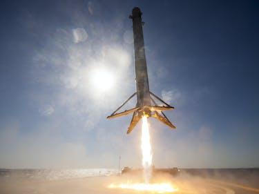 spacex falcon 9 rocket droneship landing