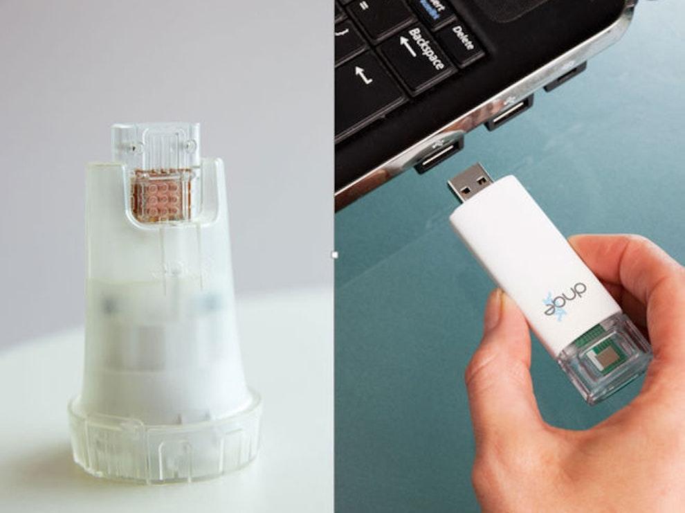 The testing kit is similar to that of a diabetes monitoring kit.