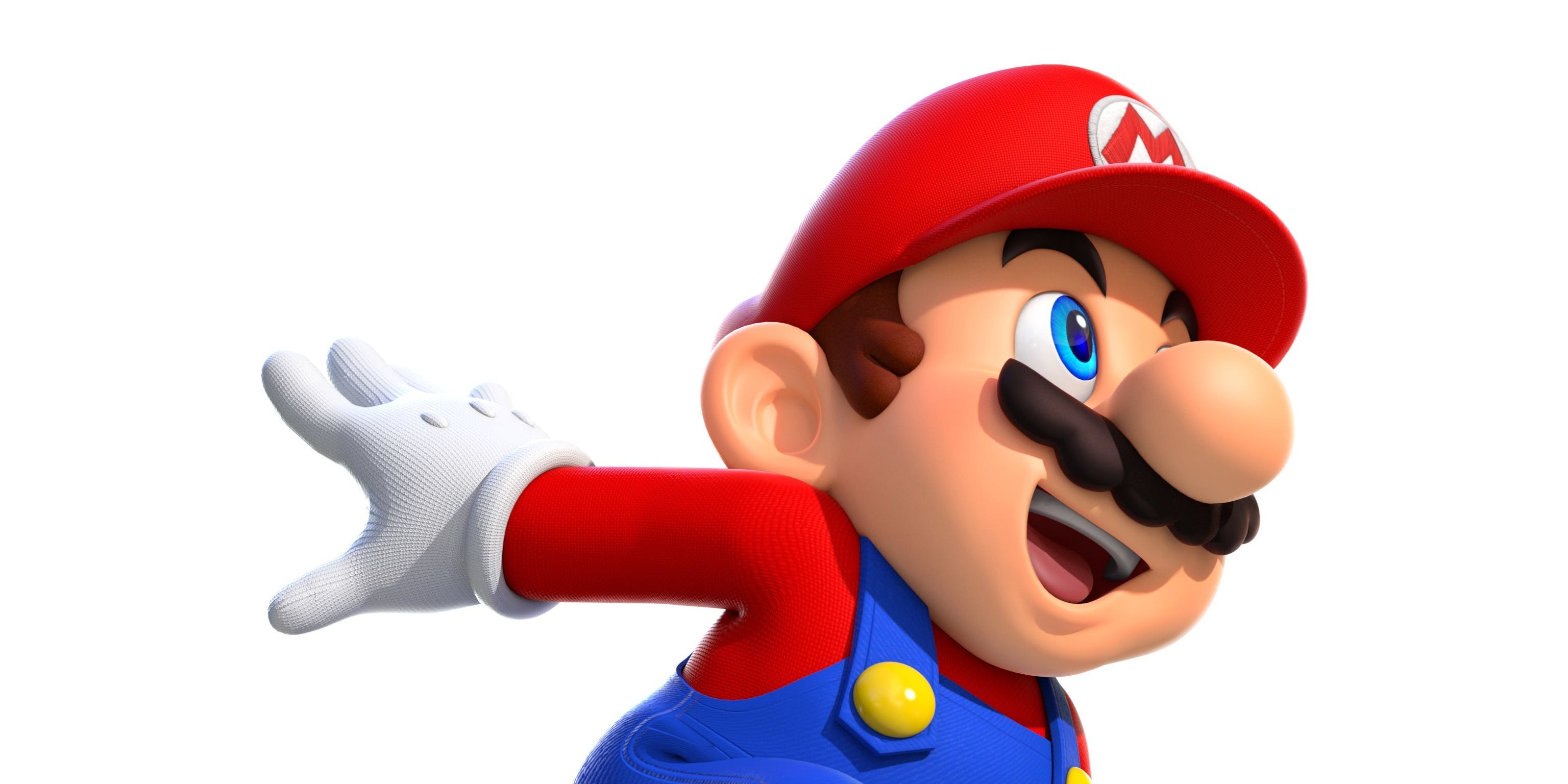 This Mario is definitely super, but it's unclear whether he's running.
