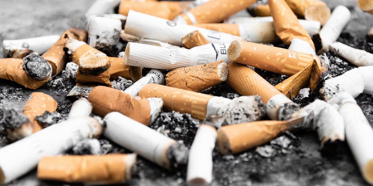 cigarettes, litter