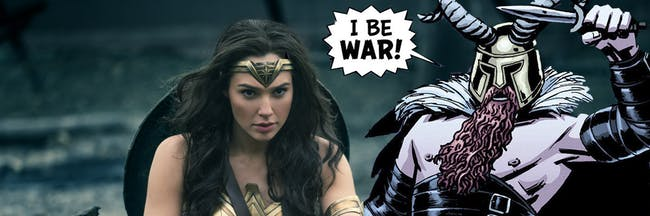 Wonder Woman and Ares