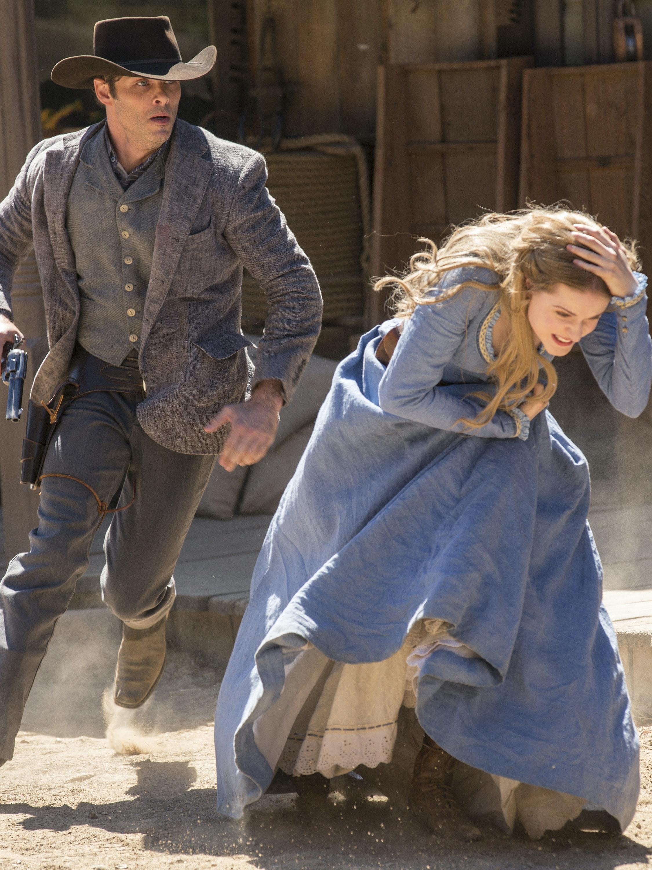 James Marsden and Evan Rachel Wood in 'Westworld'