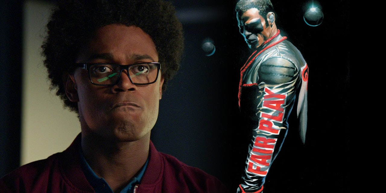 Mr. Terrific got his costume on 'Arrow'