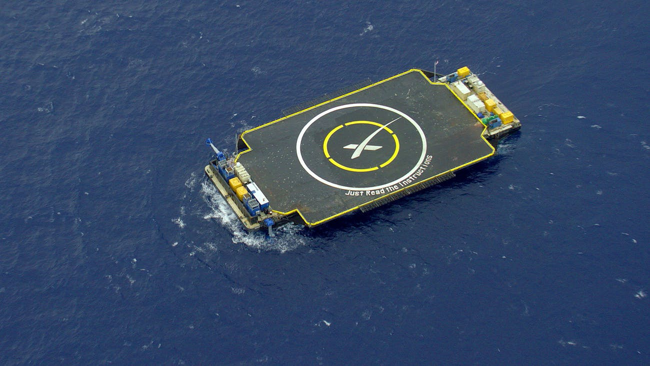 The autonomous drone ship 'Just Read the Instructions'