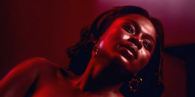Yetide Badaki as Bilquis in the 'American Gods' Orgasm of Death scene