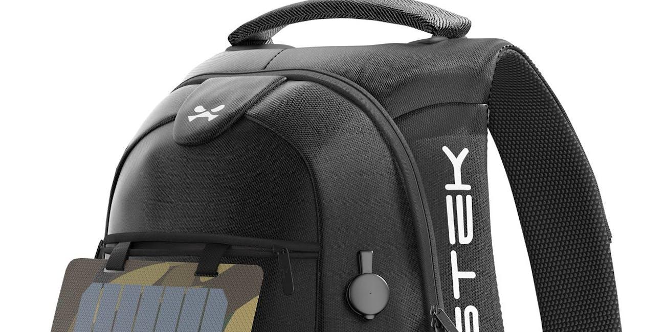 Ghostek smart backpack,  usb port, charging brick, charger, backpack, bag, smart bag