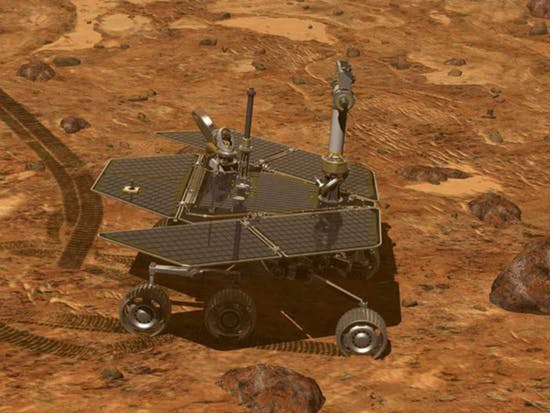 The Mars Opportunity Rover in this artist rendering.