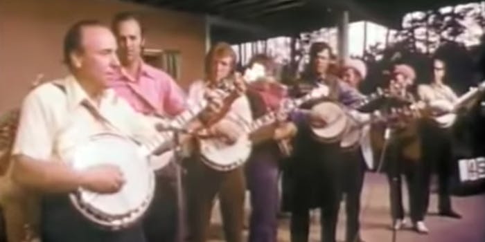 Earl Scruggs and a line of people he inspired.