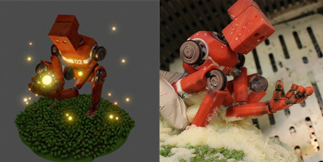 3D model sculpted by Goro Fujita; printed and added LEDs by Evan Nelson