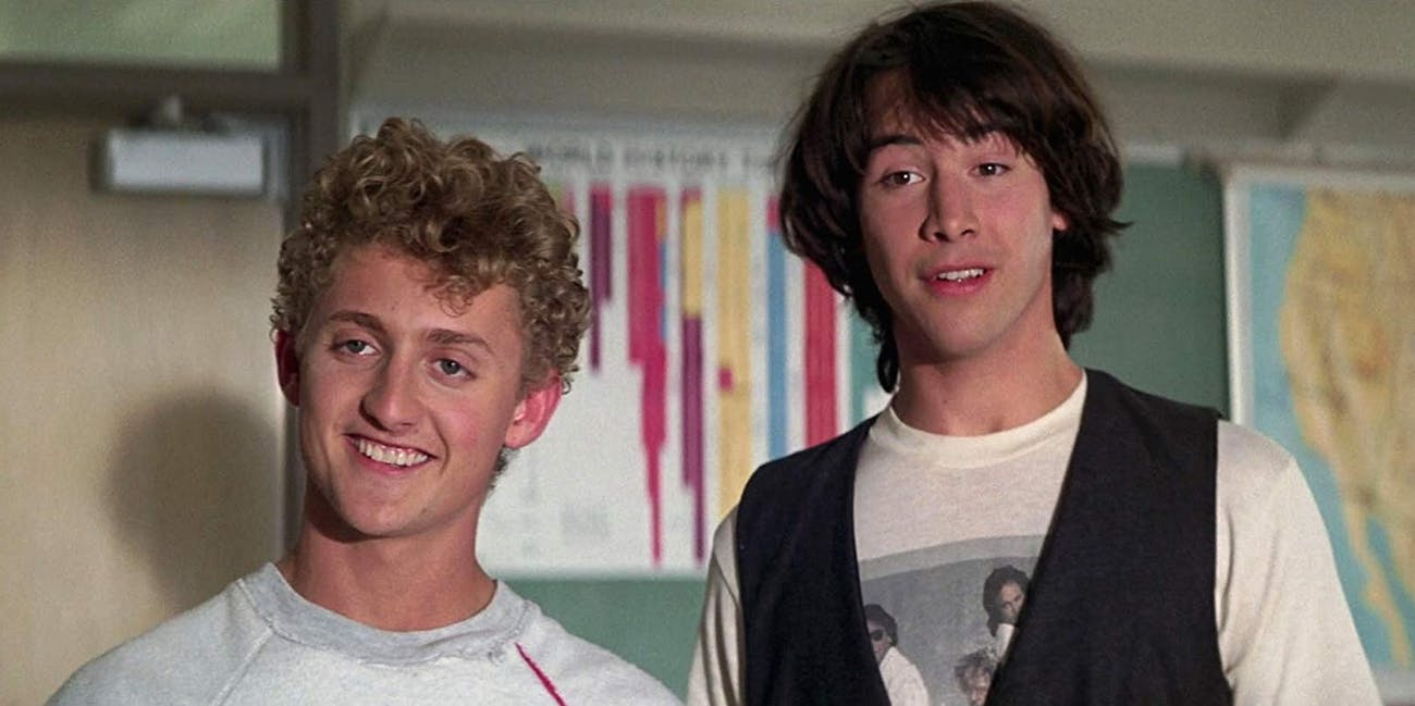 Alex Winter and Keanu Reeves in  'Bill & Ted's Excellent Adventure'