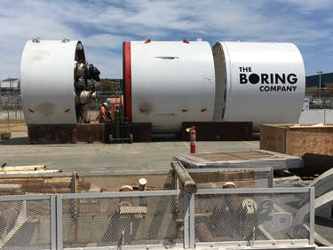 Here's Elon Musk's First Boring Machine for The Boring Company