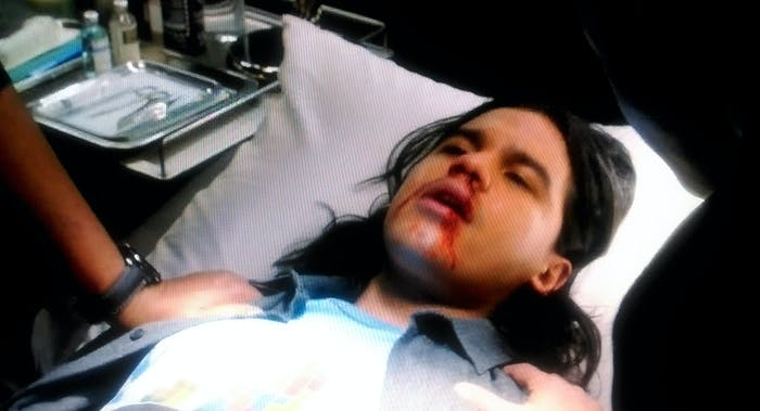 """Cisco has an adverse reaction to his heavy vision, on the CW show """"The Flash."""""""