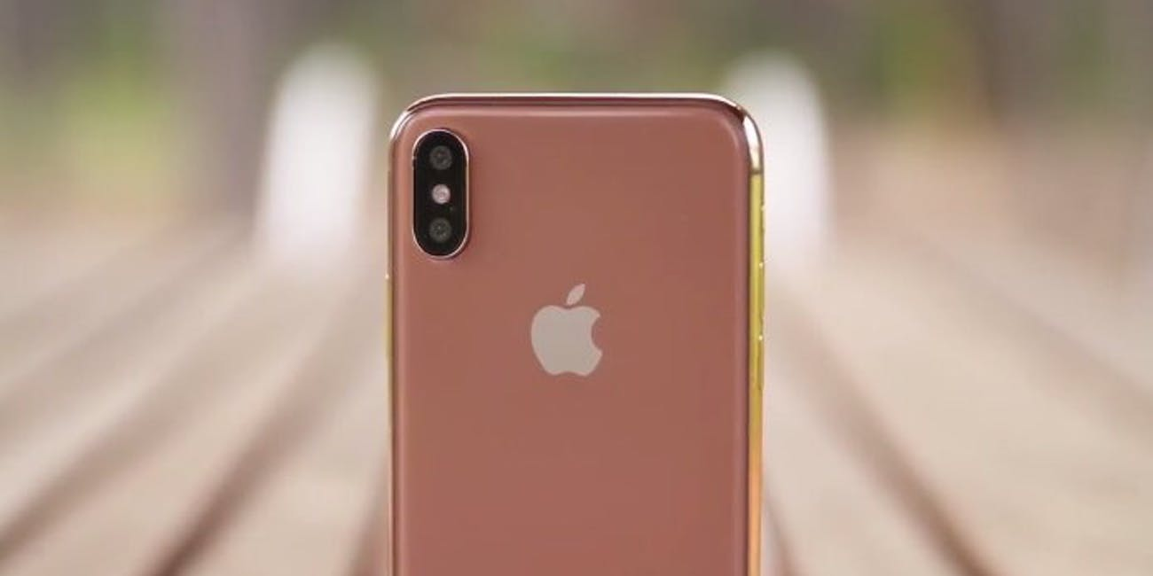 Blush gold iphone