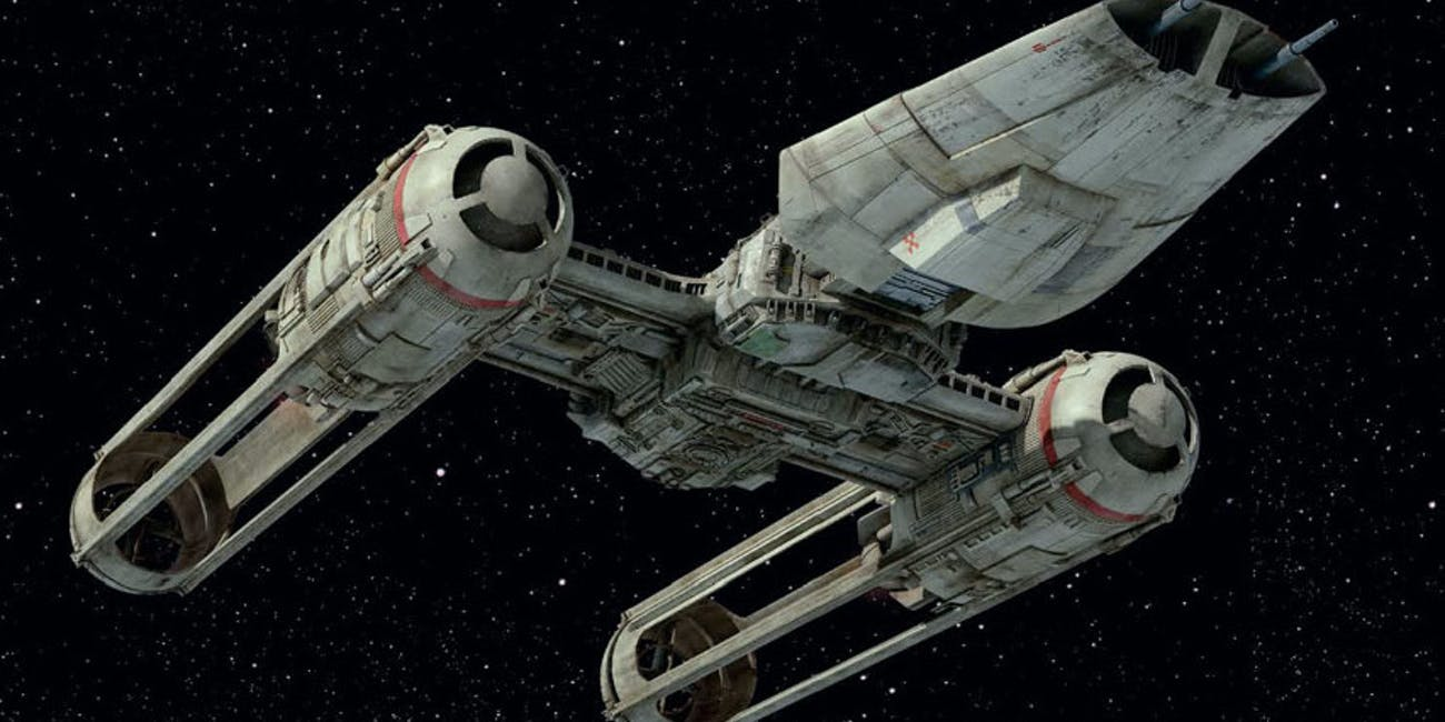 The new Y-Wing starfighter in 'The Rise of Skywalker'