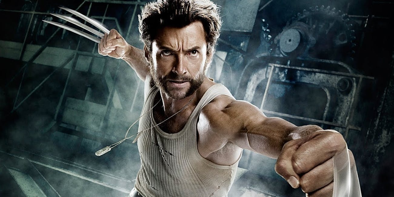 Hugh Jackman in a Fox promotional photo as Wolverine