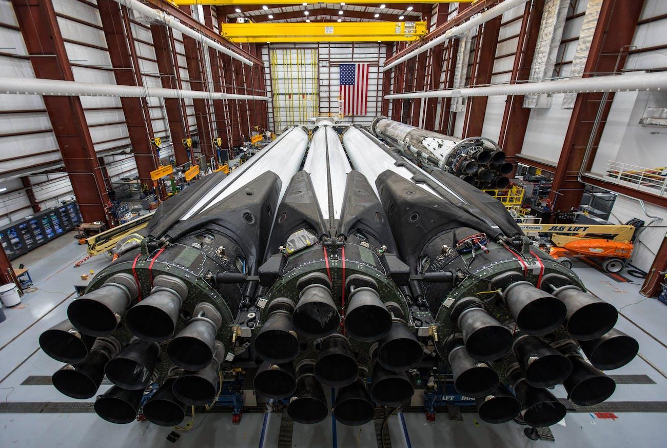 Falcon Heavy ready to go.