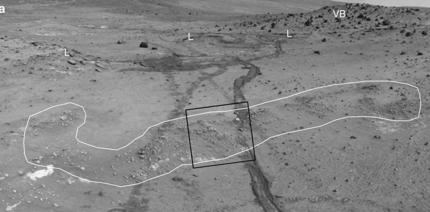Where silica deposits were found on Mars.