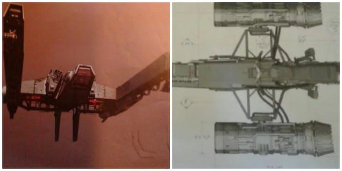 LEFT: an Imperial landing craft. RIGHT: a new podracer-inspired speeder?