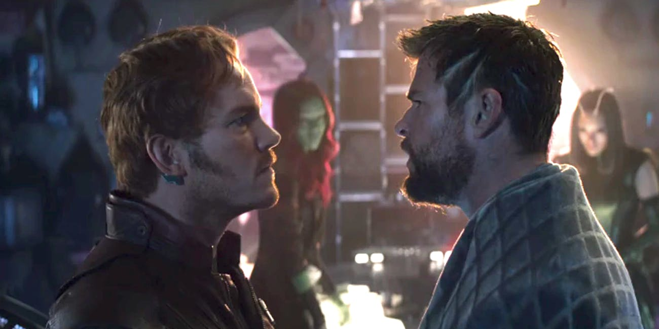 Image result for thor endgame with star lord