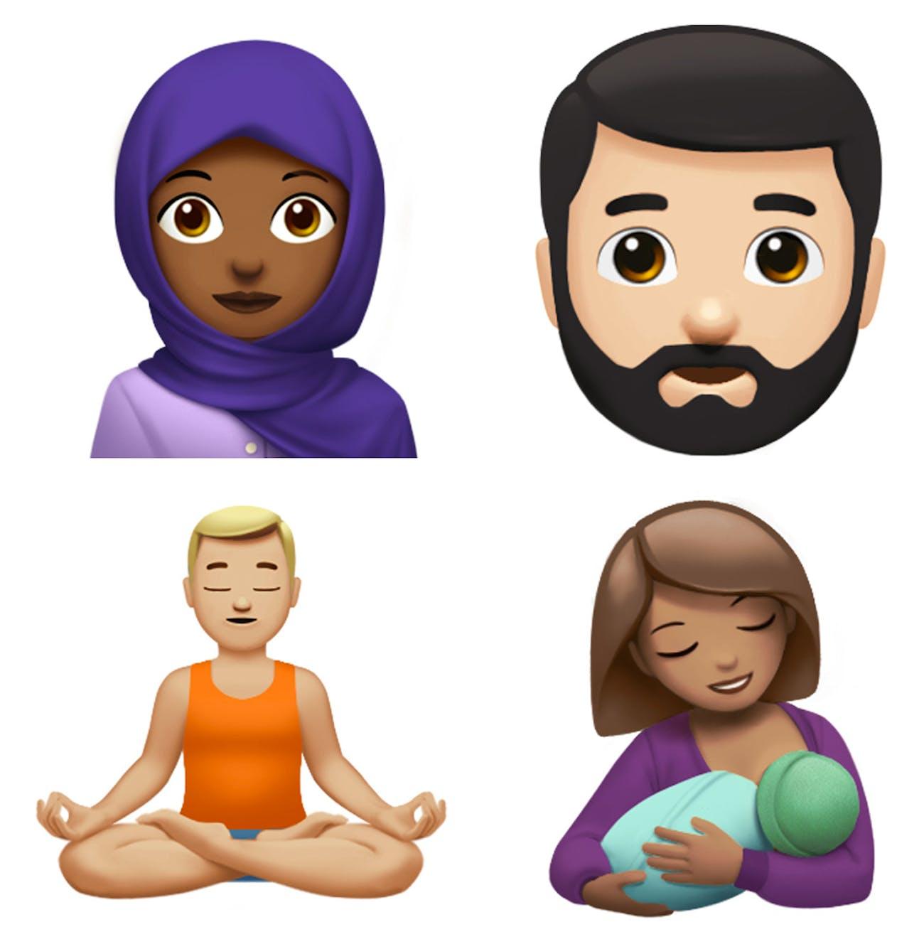 Four new human emojis.