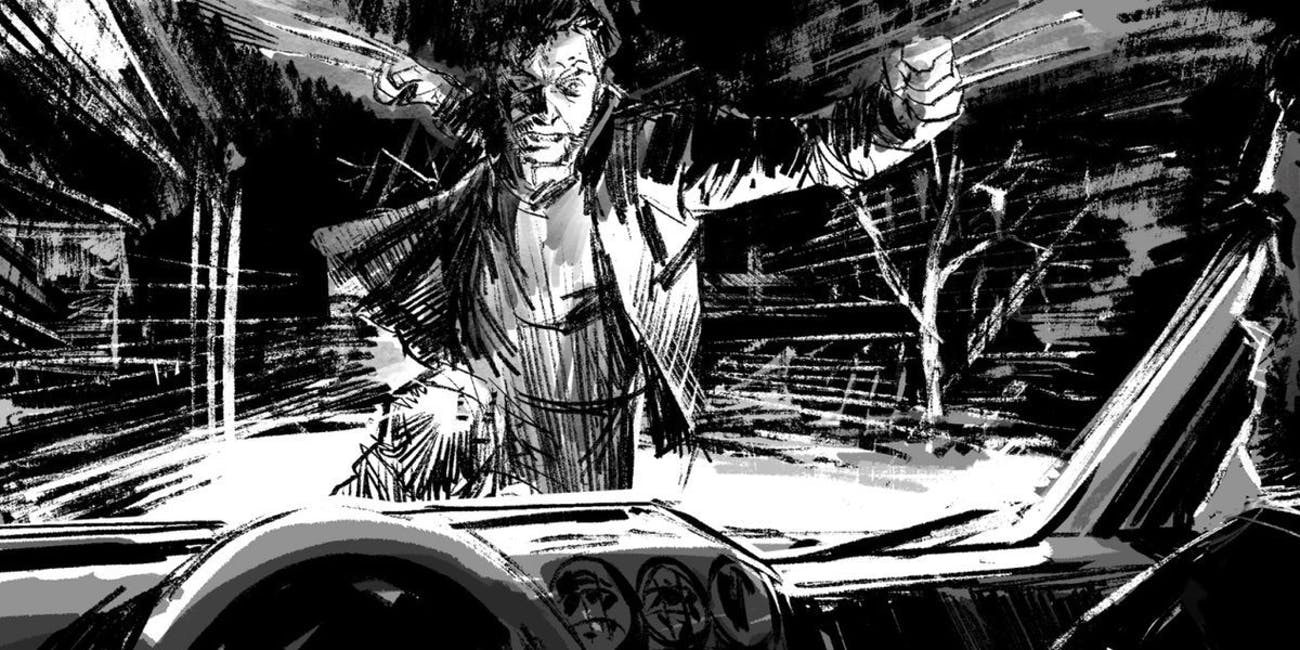 Storyboard for Marvel's 'Logan' X-Men film by James Mangold