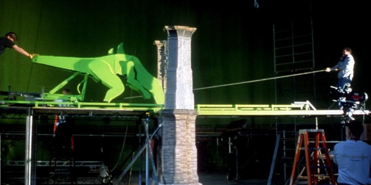 Filmmakers attempted to use as many practical effects and miniatures for the 1998 Godzilla (CG was still a relatively new approach), although ultimately this bridge sequence would be achieved mostly digitally.