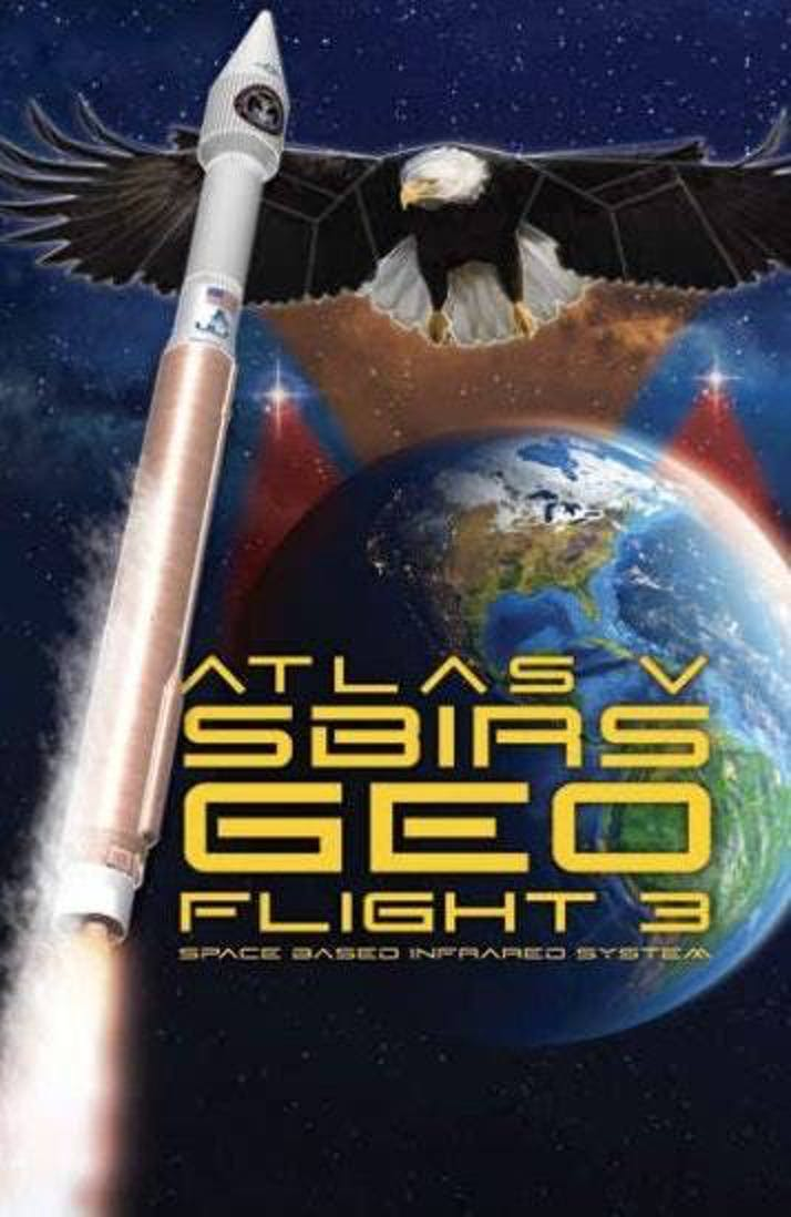 ULA SBIRS GEO Flight 3 poster.