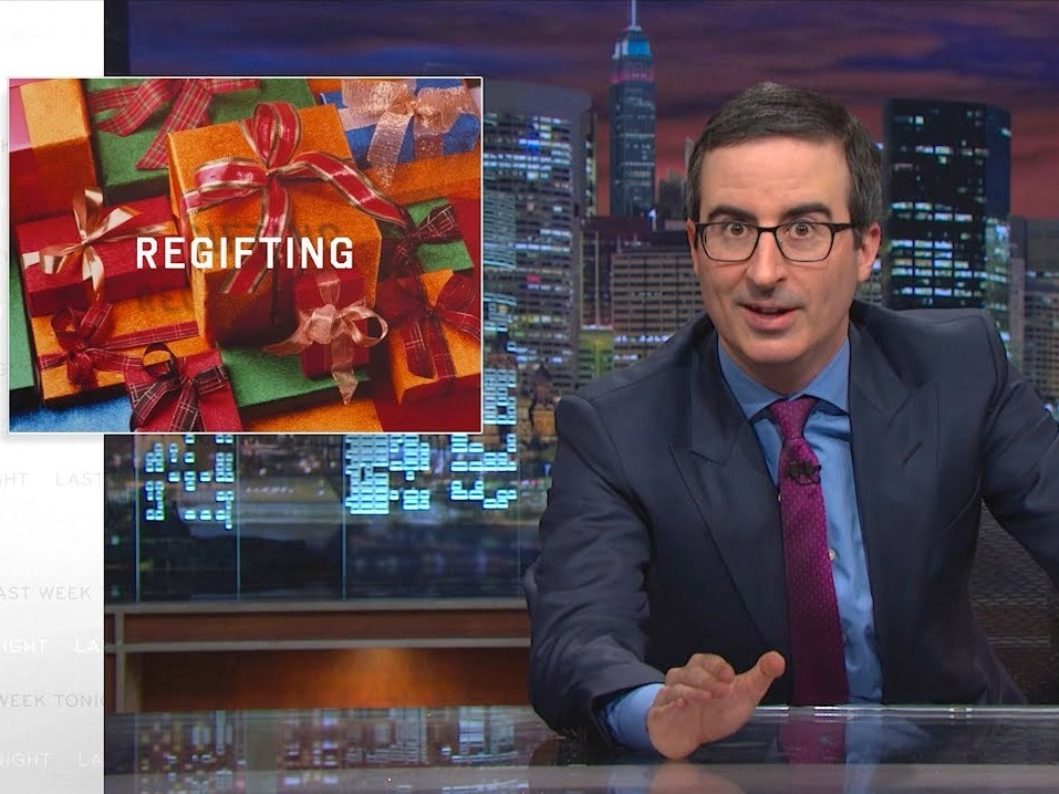 John Oliver's Festive 'Re-Gifting' Web Exclusive Is Delightfully #Off-Brand
