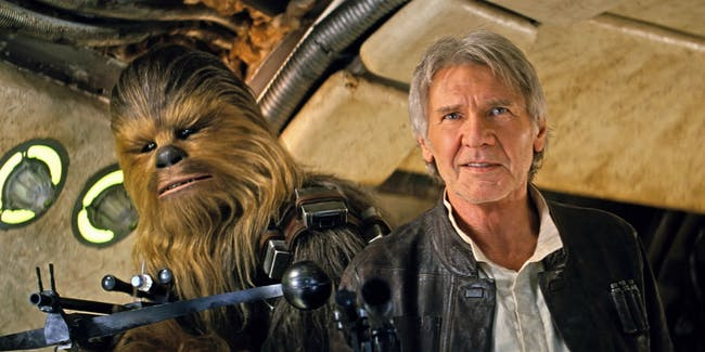 Han and Chewie return in 'The Force Awakens'