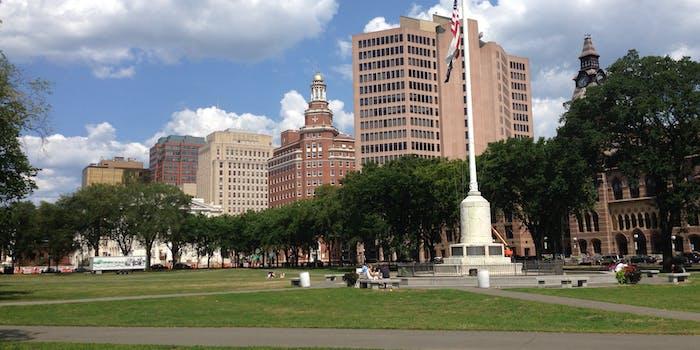 New Haven Green looking NE