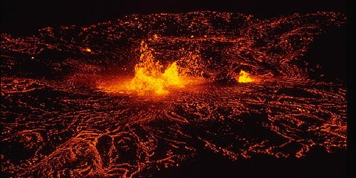 Hawaii Volcano Kilauea eruption lava