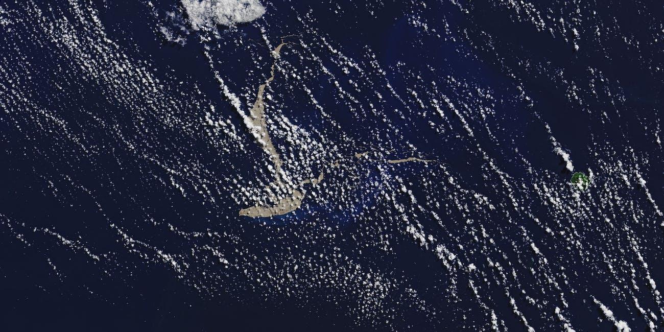 rock raft pumice volcano reef coral