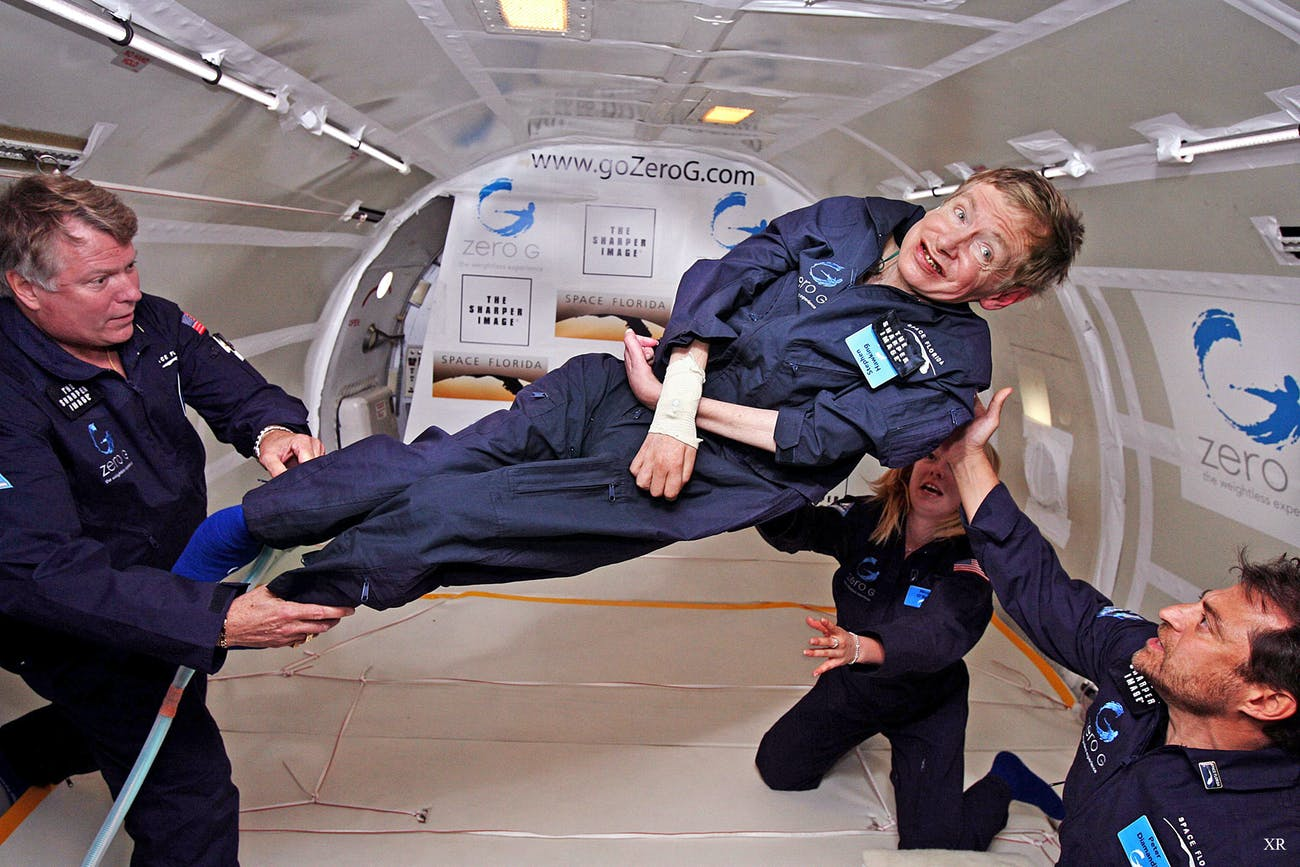 2007 ... Stephen Hawking floats!