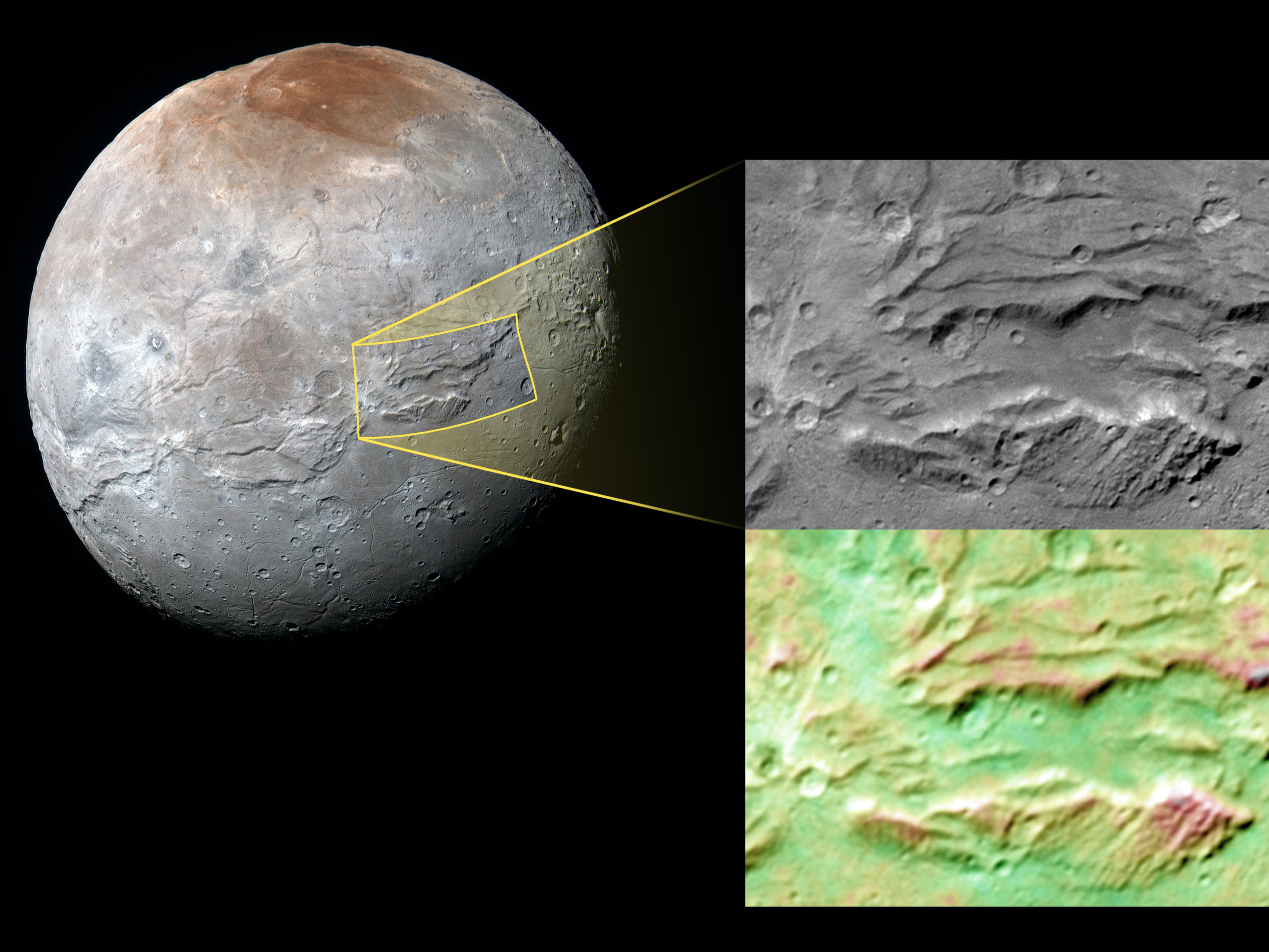 Planet Ford 59 >> Pluto's Moon Charon Has a Chasm That Makes the Grand ...