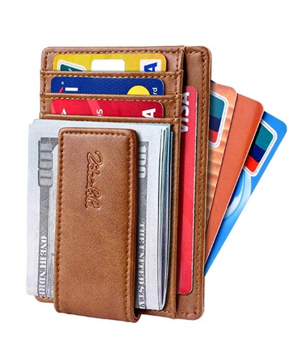 5b0a3ab5ee Zitahli Slim & Minimalist Bifold Front Pocket Wallet with Strong Magnet  Money Clip