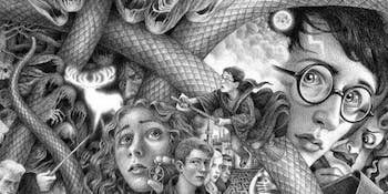The new Harry Potter covers from Brian Selznick have way too many snakes.