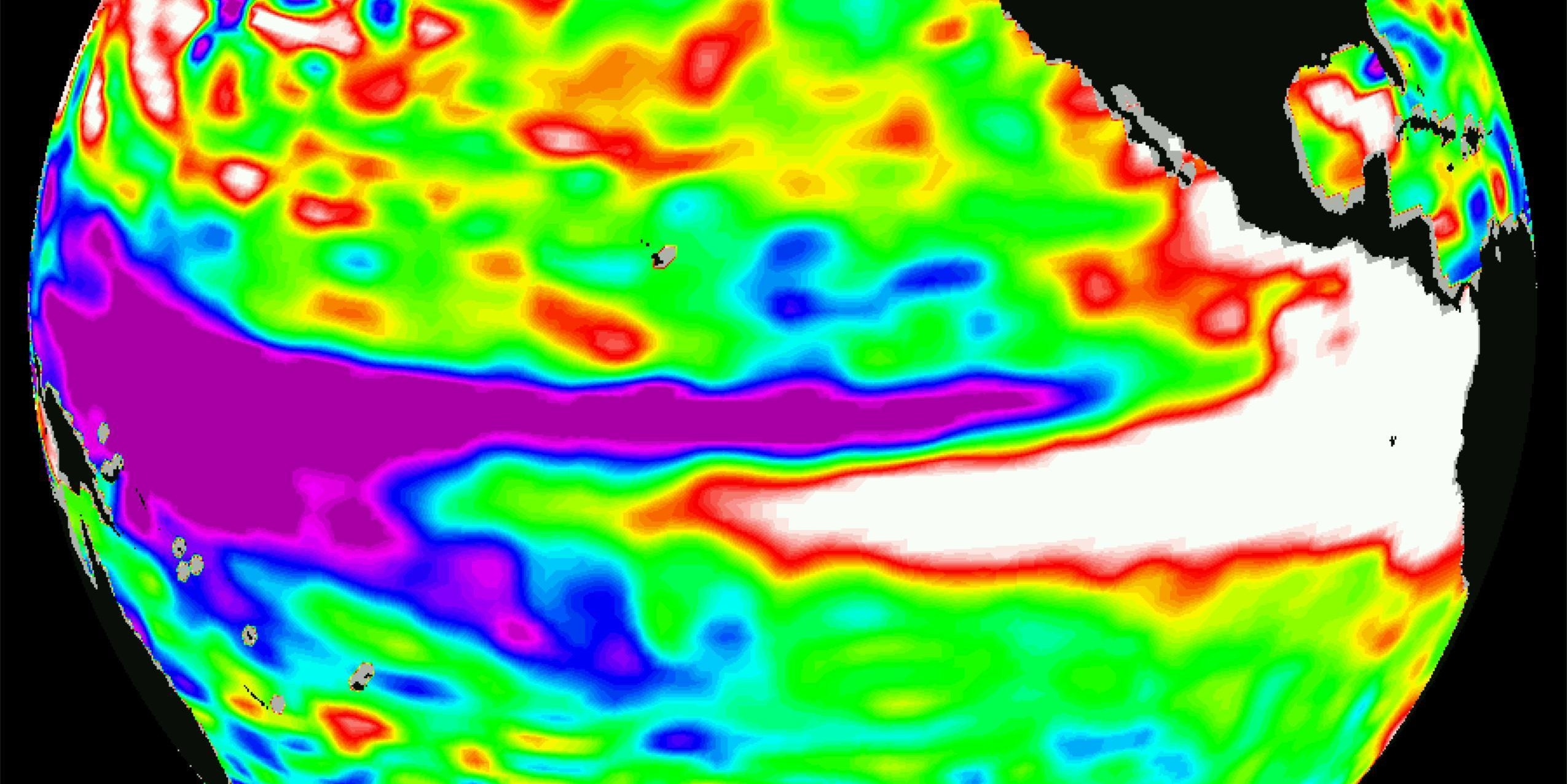 The 1997 El Niño seen by TOPEX/Poseidon