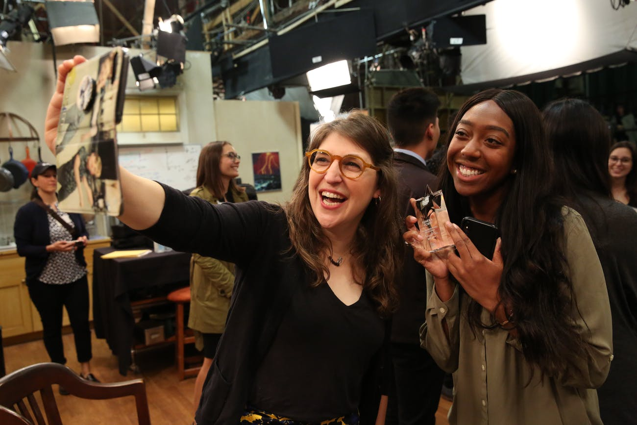 Mayim Bialik and Kemeka Corry Big Bang Theory