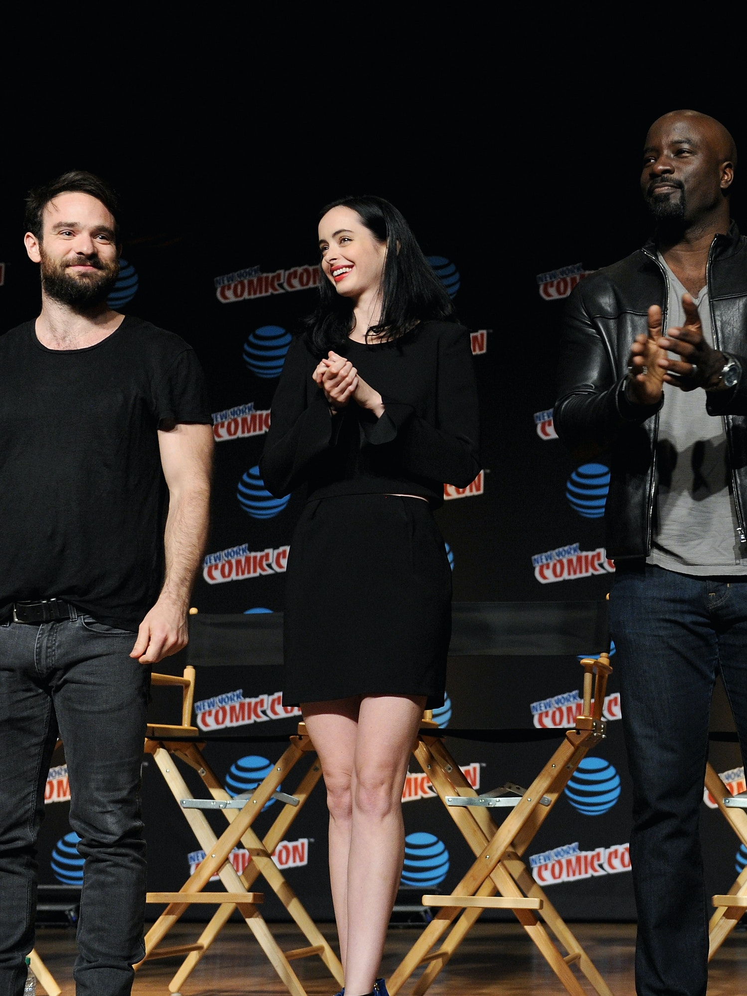 The cast of Marvel's 'The Defenders' at New York Comic Con 2016. (Photo by Craig Barritt/Getty Images for Netflix)
