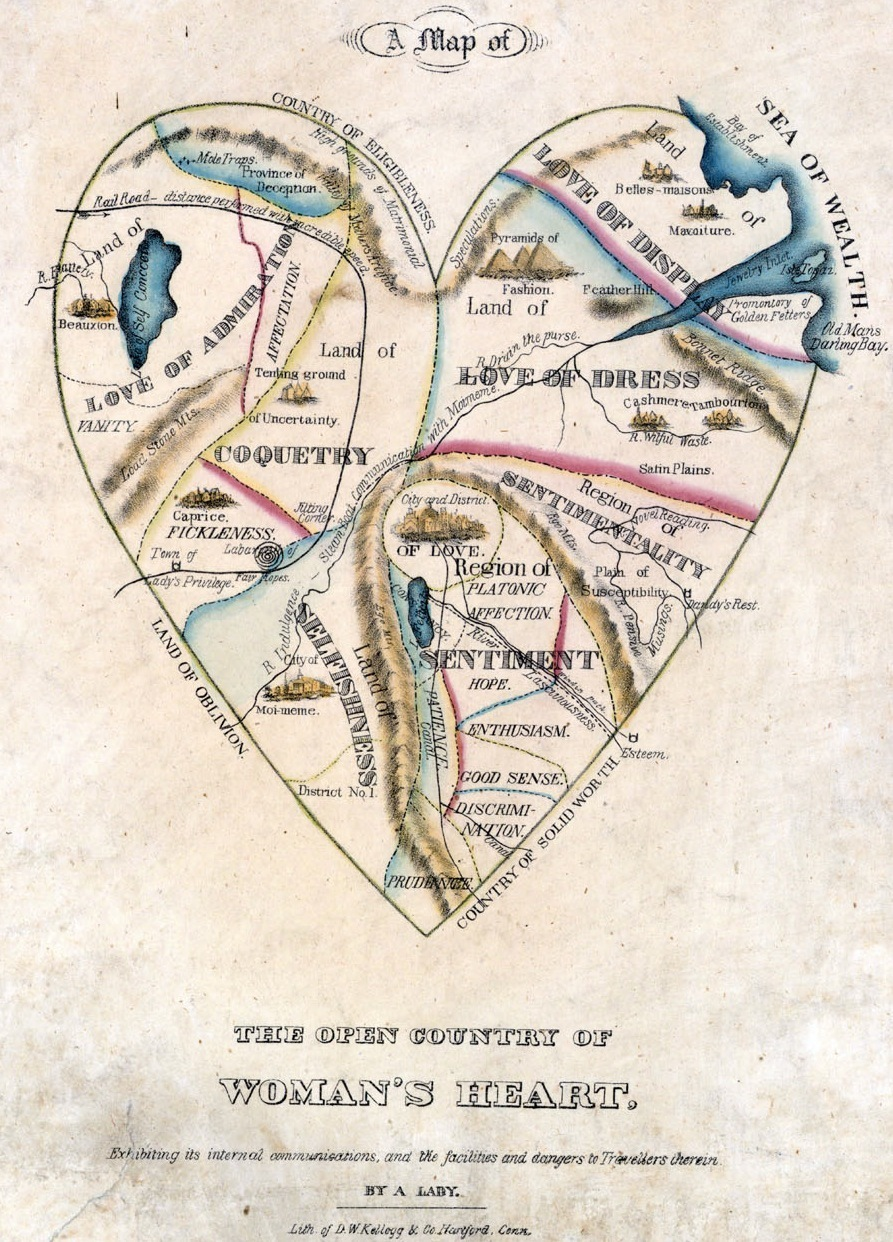 """The Open Country of Woman's Heart,"" by ""A Lady,"" from the 1830s."