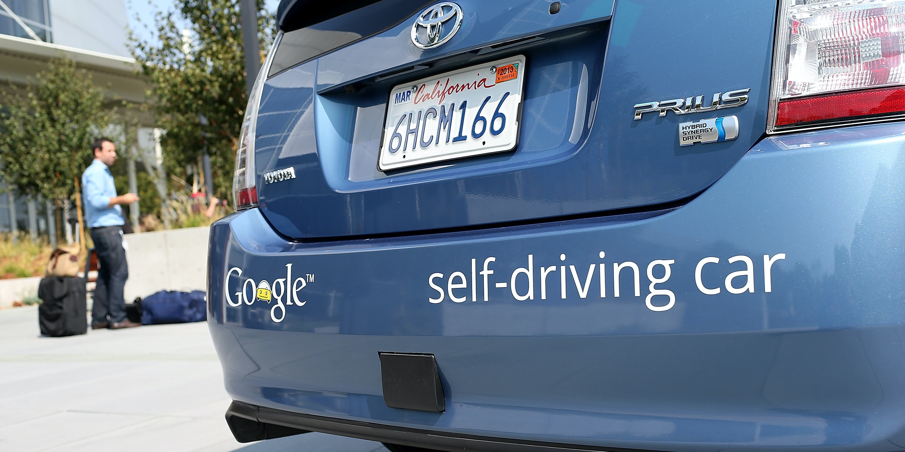 A Google self-driving car is displayed at the Google headquarters on September 25, 2012 in Mountain View, California. California Gov. Jerry Brown signed State Senate Bill 1298 that allows driverless cars to operate on public roads for testing purposes. The bill also calls for the Department of Motor Vehicles to adopt regulations that govern licensing, bonding, testing and operation of the driverless vehicles before January 2015.