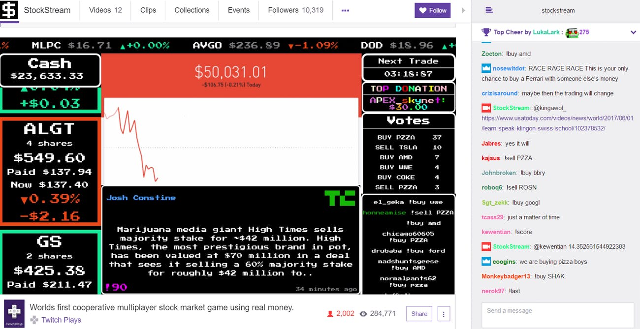 stockstream stock market stream twitch