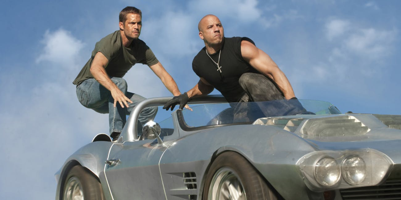 Dom and Brian hop into action in 'Fast & Furious 7'