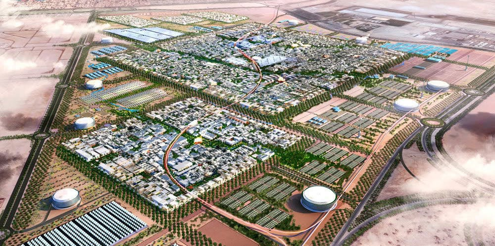 The audacious plan for Masdar City call for clouds over a desert.