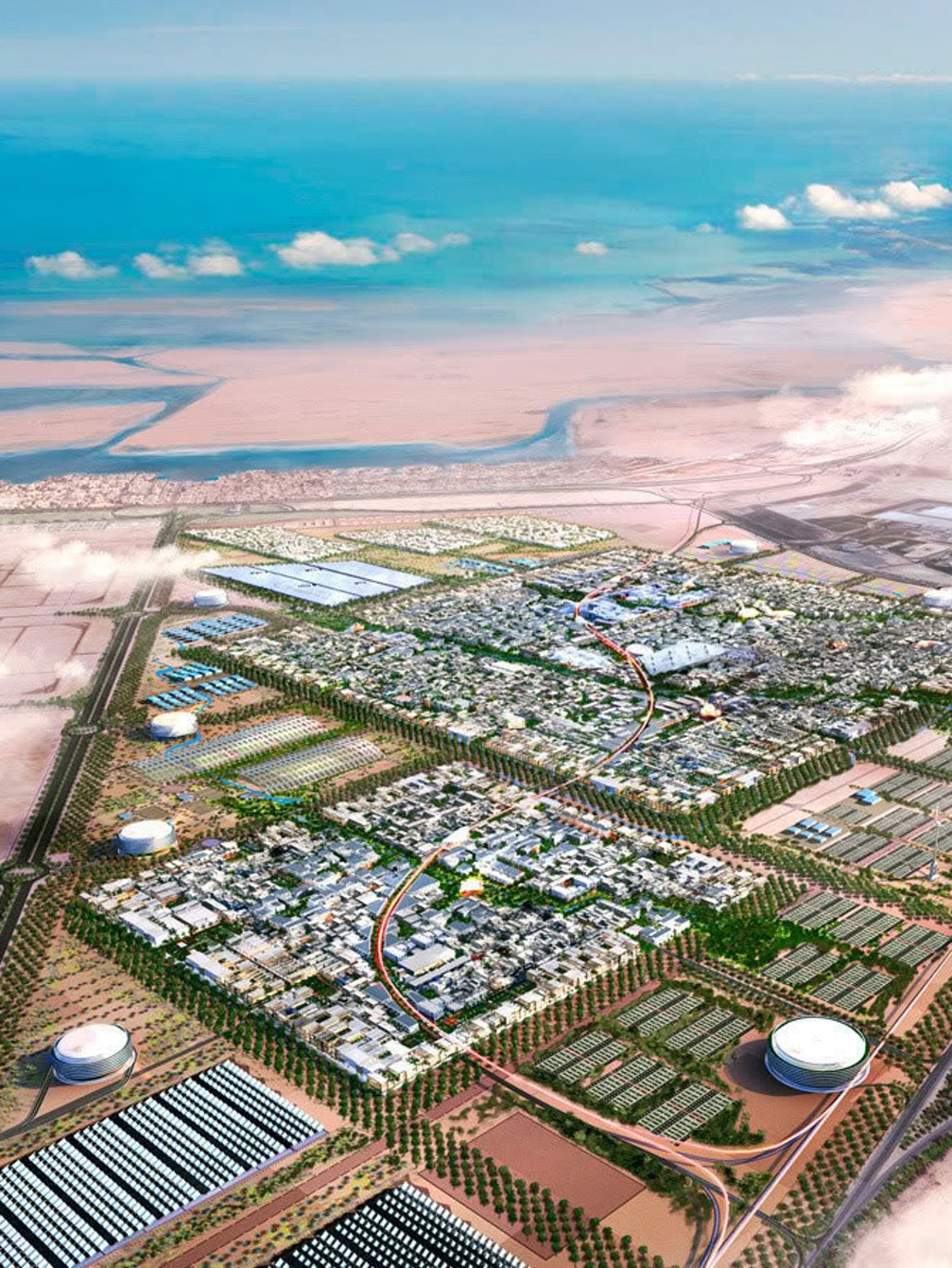 The audacious plan for Masdar City call for clouds over a desert.