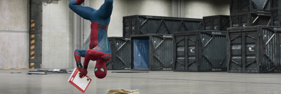 Spider-Man hangs around in Columbia Pictures' SPIDER-MAN™: HOMECOMING.
