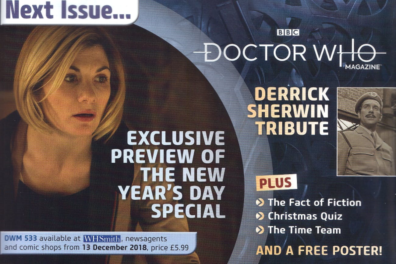 'Doctor Who Magazine' confirms a New Year's Day Special for 'Doctor Who'
