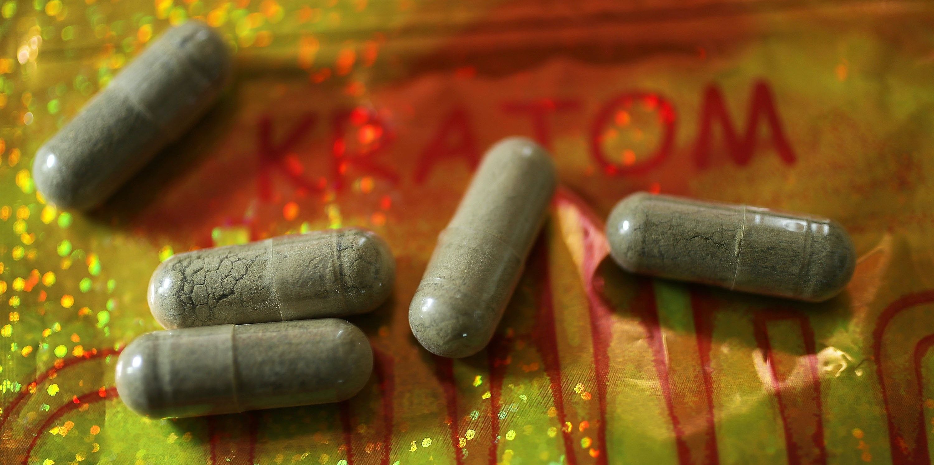 MIAMI, FL - MAY 10:  In this photo illustration, capsules of the drug Kratom are seen on May 10, 2016 in Miami, Florida. The herbal supplement is a psychoactive drug derived from the leaves of the kratom plant and it's been reported that people are using the supplement to get high and some states are banning the supplement.  (Photo by Joe Raedle/Getty Images)