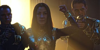 Michelle Yeoh as the Emperor