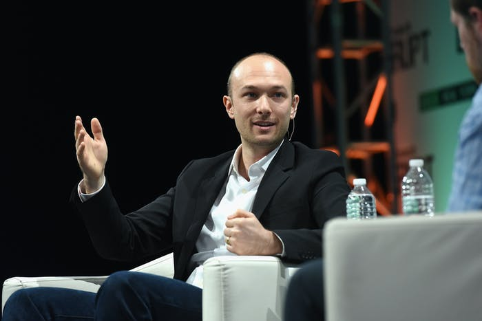 NEW YORK, NY - MAY 05: Co-Founder and CEO of Lyft, Logan Green speaks onstage during TechCrunch Disrupt NY 2015 - Day 2 at The Manhattan Center on May 5, 2015 in New York City. (Photo by Noam Galai/Getty Images for TechCrunch)